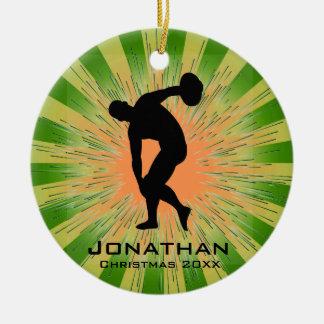 Ornamento personalizado del lanzador de disco adorno de reyes