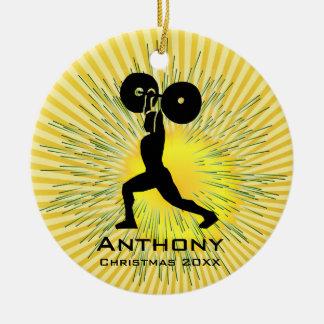 Ornamento personalizado del levantador de peso ornamento de reyes magos