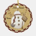 Ornamento personalizado del muñeco de nieve del ornamento de reyes magos