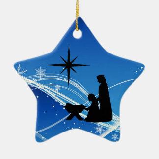 Ornamento personalizado del navidad de la escena d ornatos