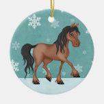 Ornamento personalizado del navidad del caballo ornamentos de reyes magos