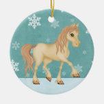 Ornamento personalizado del navidad del caballo adorno para reyes