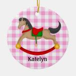 Ornamento personalizado del navidad del caballo me ornamente de reyes