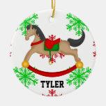Ornamento personalizado del navidad del caballo me ornamentos de reyes