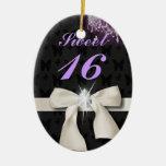 Ornamento personalizado del navidad del dulce 16 ornatos