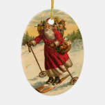 Ornamento personalizado del navidad del esquí de ornamente de reyes