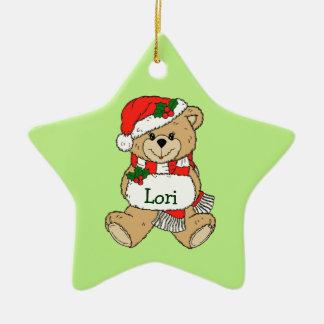 Ornamento personalizado del navidad del oso de pel ornamento para reyes magos