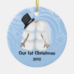 Ornamento personalizado del navidad del recién ornatos