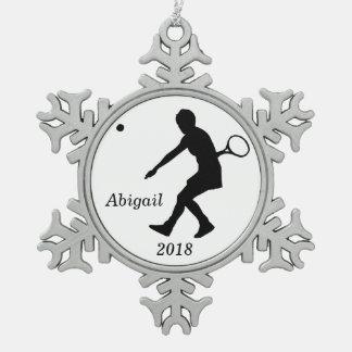 Ornamento personalizado del navidad del tenis del  adorno