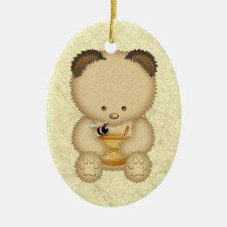 Ornamento personalizado del oso de miel ornamentos para reyes magos