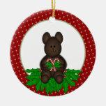 Ornamento personalizado del oso del navidad ornamentos para reyes magos