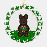 Ornamento personalizado del oso del navidad adorno de navidad