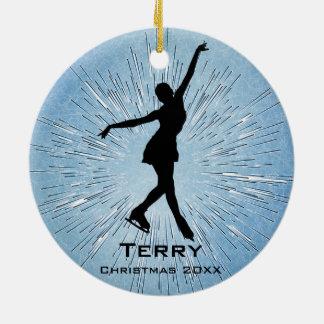 Ornamento personalizado del patinaje de hielo ornamentos para reyes magos