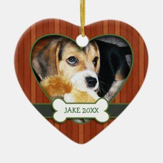Ornamento personalizado del perro de la foto ornaments para arbol de navidad