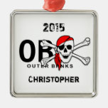 Ornamento personalizado del pirata de la bandera p adorno de navidad