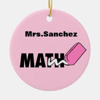 Ornamento personalizado del profesor de matemática ornamento para arbol de navidad