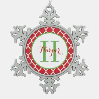 Ornamento personalizado del recuerdo del monograma adornos