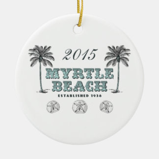 Ornamento personalizado del SC de Myrtle Beach Adornos De Navidad