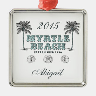 Ornamento personalizado del SC de Myrtle Beach Ornamento Para Reyes Magos
