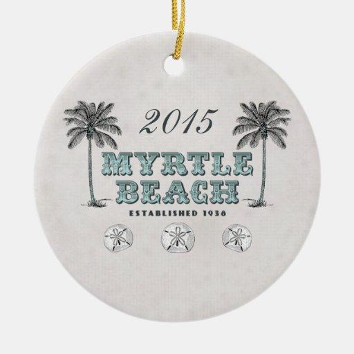 Ornamento personalizado del SC de Myrtle Beach del Ornamento Para Reyes Magos