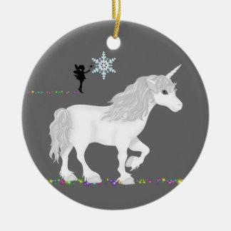 Ornamento personalizado del unicornio y de la hada ornato