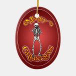 Ornamento personalizado esqueleto del navidad de l adornos de navidad