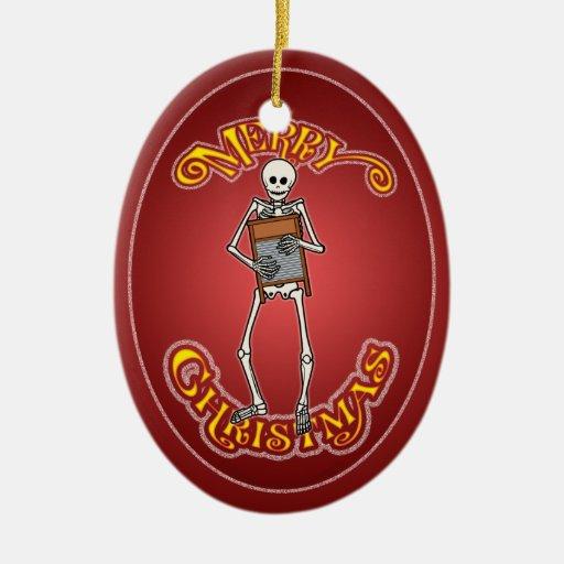 Ornamento personalizado esqueleto del navidad del  adorno