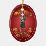 Ornamento personalizado esqueleto del navidad del  ornamentos de reyes magos