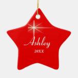 Ornamento personalizado estrella del navidad ornamente de reyes