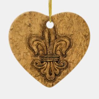 Ornamento personalizado flor de lis del árbol de ornato