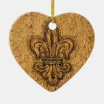 Ornamento personalizado flor de lis del árbol de n ornato