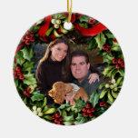 Ornamento personalizado foto de la guirnalda del a ornaments para arbol de navidad