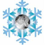 Ornamento personalizado foto del navidad del copo  escultura fotografica
