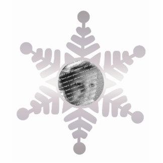 Ornamento personalizado foto del navidad del copo  fotoescultura vertical