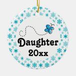 Ornamento personalizado hija del navidad de la nie adorno para reyes