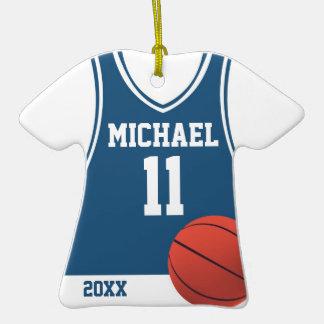 Ornamento personalizado jersey del baloncesto adorno de navidad