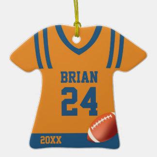 Ornamento personalizado jersey del fútbol adornos