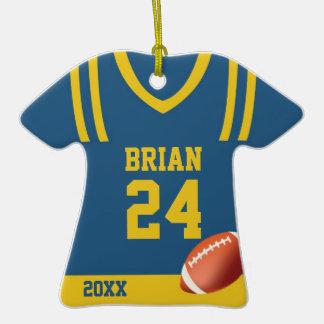 Ornamento personalizado jersey del fútbol ornamentos de reyes
