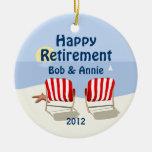 Ornamento personalizado jubilado de la silla de pl adornos