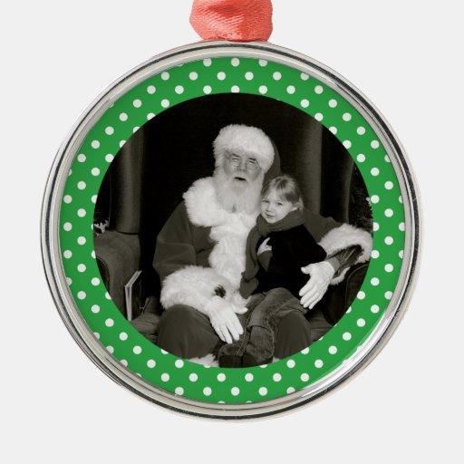 Ornamento personalizado lunar de la foto adorno navideño redondo de metal