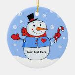 Ornamento personalizado muñeco de nieve frío de la ornamente de reyes