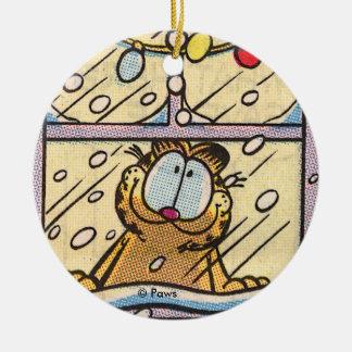 Ornamento PERSONALIZADO Nochebuena de Garfield Adorno Navideño Redondo De Cerámica