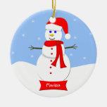 Ornamento personalizado nombre del navidad ornamento para arbol de navidad