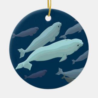 Ornamento personalizado ornamento de la ballena de adornos