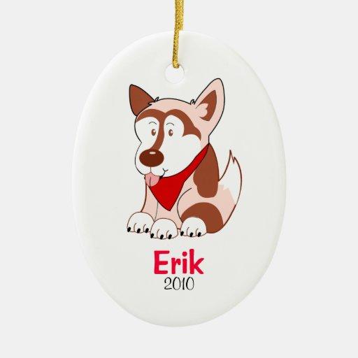 Ornamento personalizado PERRO del navidad del HUSK Ornamento Para Reyes Magos