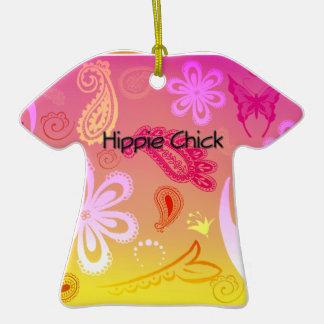Ornamento personalizado polluelo de la camiseta de ornatos