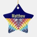 Ornamento personalizado teñido anudado adorno