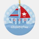 Ornamento personalizado velero del navidad del muc ornaments para arbol de navidad