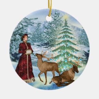 Ornamento personalizado Yule del invierno del Ornamento Para Reyes Magos