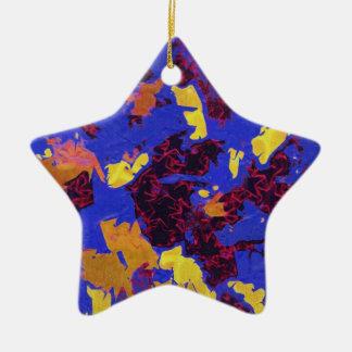 Ornamento pintado de la estrella adorno de reyes